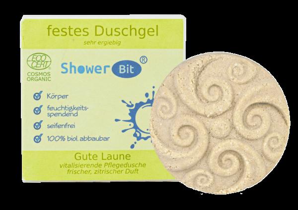 Rosenrot ShowerBit® - festes Duschgel Gute Laune A